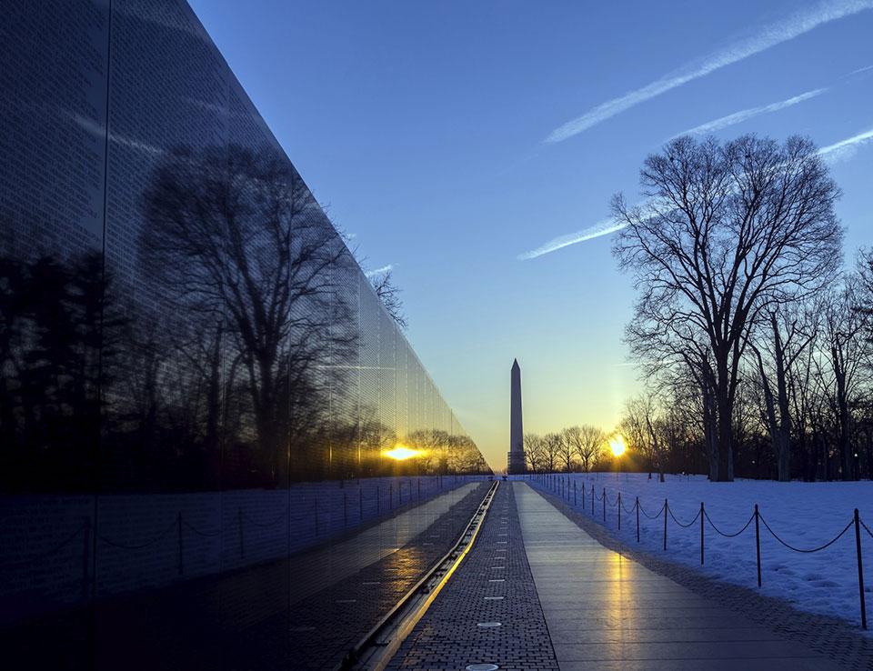 Vietnam Veterans Memorial at Washington, DC