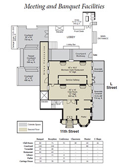 Wedding Floor Plan at Washington, Dc Hotel